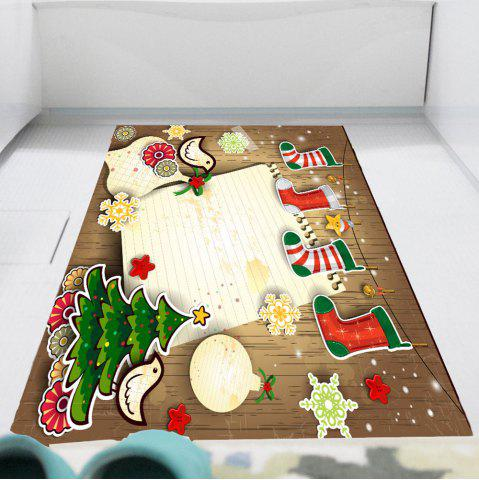 Multicolor Christmas Stocking Print Wall Art Sticker