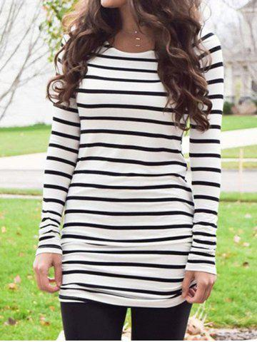 Long Sleeves Striped Tunic Tee