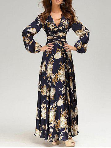 Best Plunging Neck Floral Print Maxi Dress