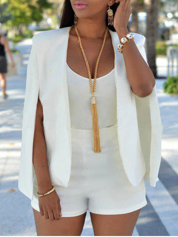 Collarless Split Cape Blazer