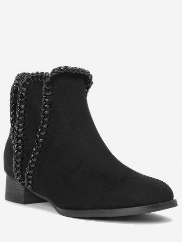 Sale Low Heel Whipstitch Short Boots