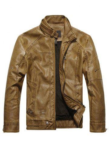 Store Mens Faux Leather Biker Jacket