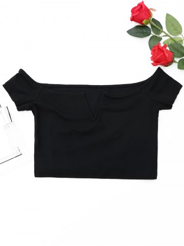 Chic Cropped Off The Shoulder Top