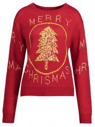 Joyeux Noël Snowman Tree Plus Size Sweater - Red - Xl