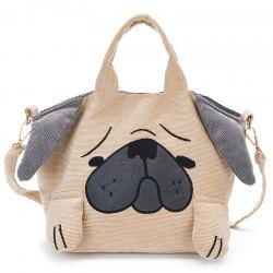 Color Block Animal Shape Crossbody Bag - Khaki