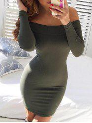 Bodycon Off The Shoulder Robe manches longues -
