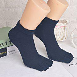 Cotton Blend Five Toe Finger Socks -