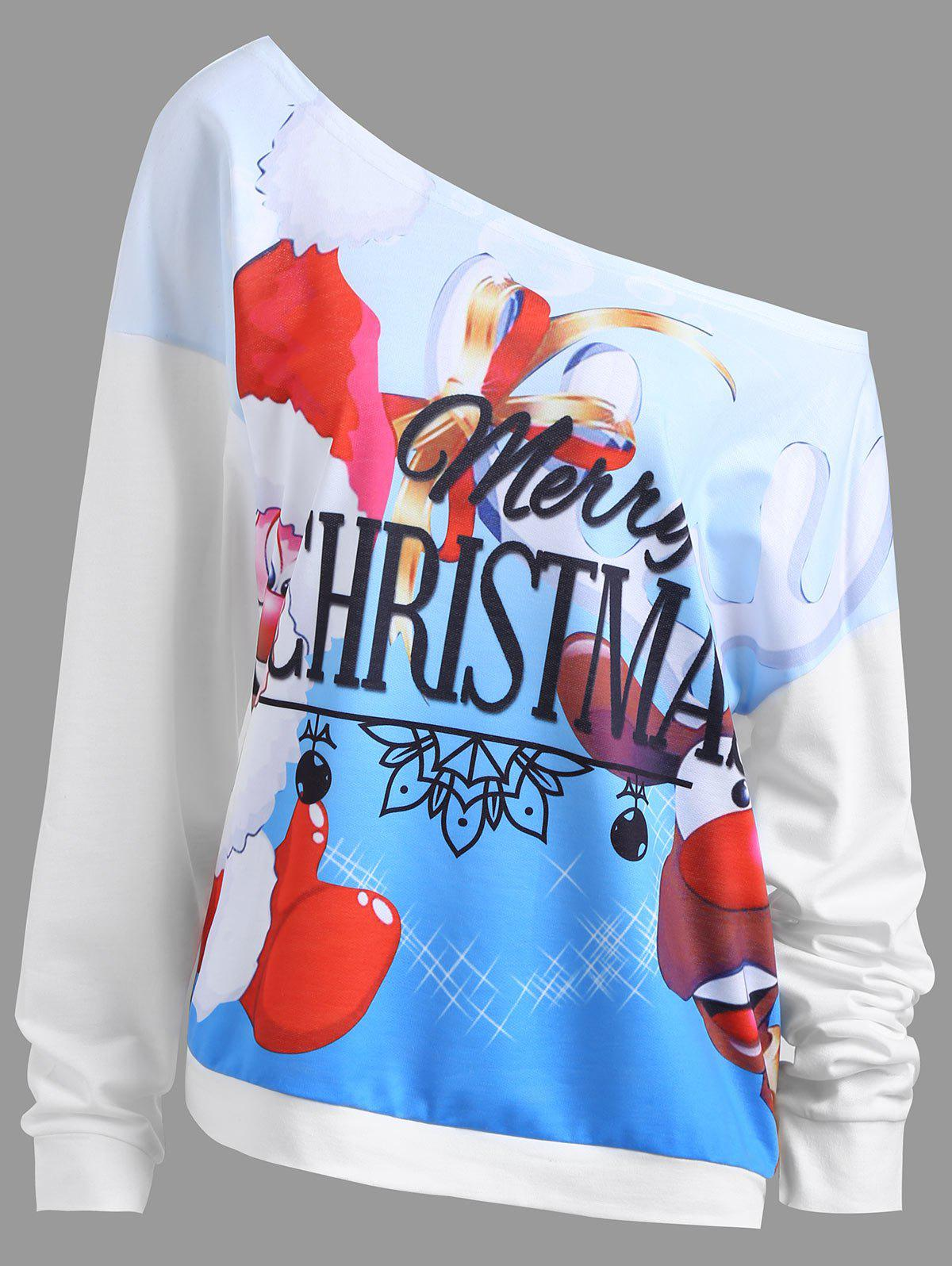 Buy Christmas Elk Santa Claus Plus Size Sweatshirt