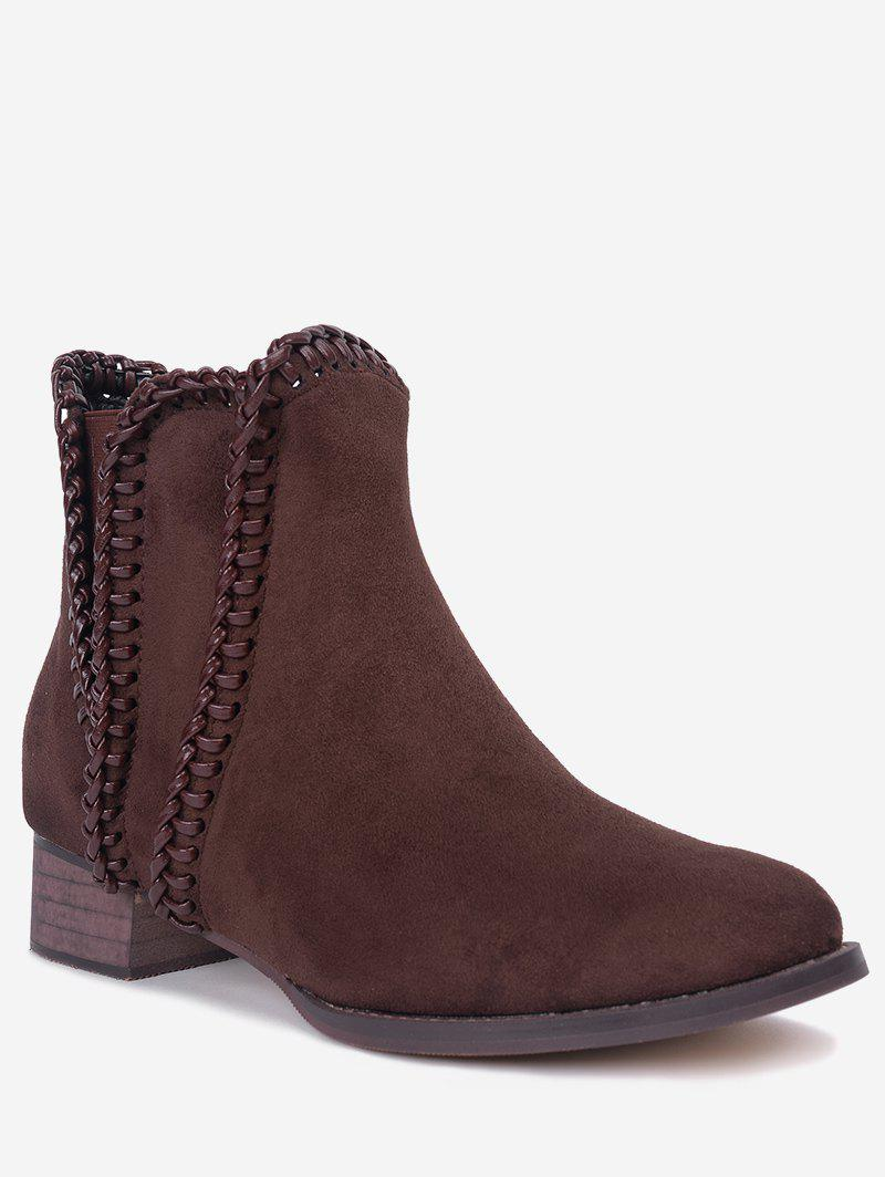 Online Low Heel Whipstitch Short Boots
