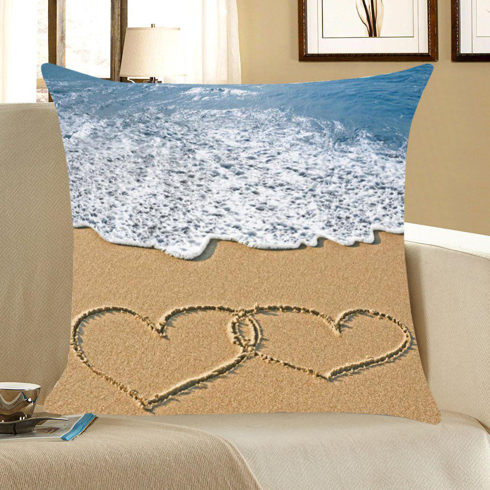 Unique Sea Wave Love Beach Pattern Pillow Case