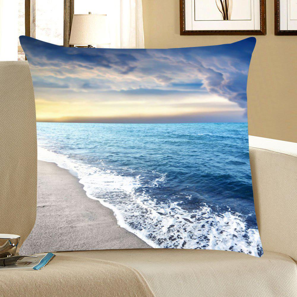 Cheap Seascape Beach Printed Throw Pillow Case