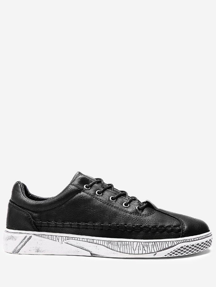 Shops Faux Leather Whipstitch Casual Shoes
