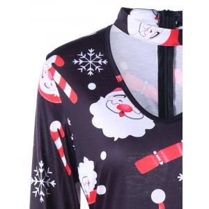 Christmas Santa Claus Snowflake Dress - COLORMIX L