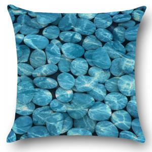 Home Decorative Cobblestones Printed Throw Pillow Case - BLUE W18 INCH * L18 INCH