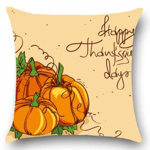 Thanks Giving Days Pumpkin Print Throw Pillow Case -