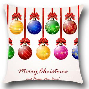 Christmas Colorful Balls Patterned Throw Pillow Case - COLORFUL W18 INCH * L18 INCH