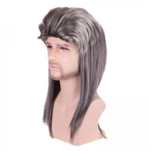 Long Colormix Fluffy Layered Straight Cosplay Party Synthetic Man Wig -