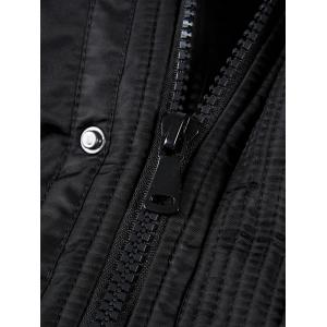 Patch Design Poches à rabat manteau Parka à capuche - Noir 3XL
