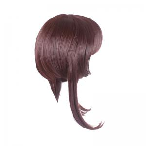 Long Neat Bang Straight Synthetic Cosplay Lolita Wigs With Temples -