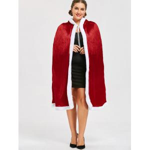 Cape Santa Claus Christmas Plus Size - Rouge 3XL