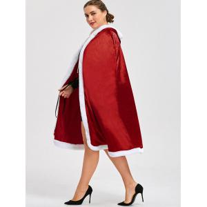 Cape Santa Claus Christmas Plus Size - Rouge 4XL