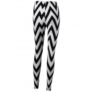 Monochrome Zigzag Tight Leggings -