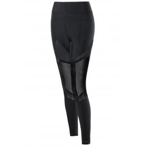 Mesh Insert Fitted Leggings -