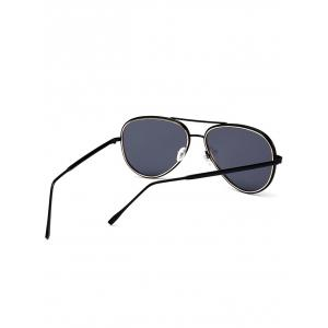 Vintage Golden Metal Frame Crossbar Sunglasses -