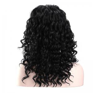 Long Middle Part Fluffy Deep Wave Lace Front Synthetic Wig -