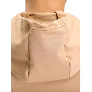 Zipper Hooded Pouch Pocket Vest - KHAKI 2XL