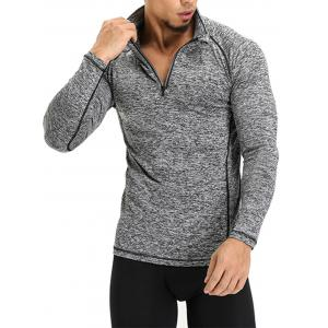 Half Zip Raglan Sleeve T-shirt -