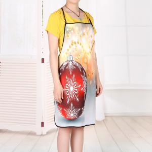 Christmas Bauble Print Waterproof Kitchen Apron -