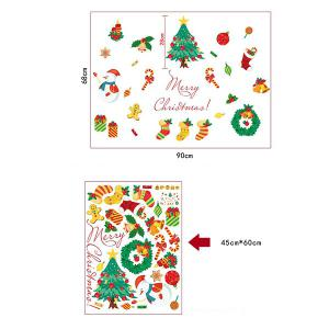 Christmas Theme Pattern Decorative Wall Art Stickers - COLORMIX 45*60CM