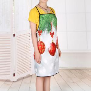 Christmas Baubles Print Waterproof Kitchen Apron -