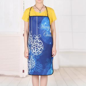 Christmas Balls Print Waterproof Kitchen Apron - BLUE 80*70CM