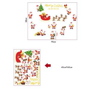 Christmas Santa Claus Pattern Decorative Wall Art Stickers -
