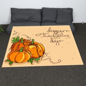Coral Fleece Thanksgiving Pumpkin Pattern Blanket - EARTHY W31 INCH*L59 INCH