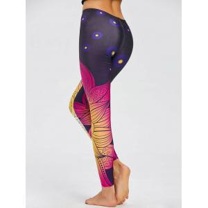 Skinny Print Leggings - COLORMIX L