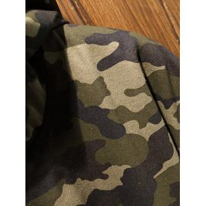 Reversible Style Camouflage Hooded Pockets Coat - ARMY GREEN M