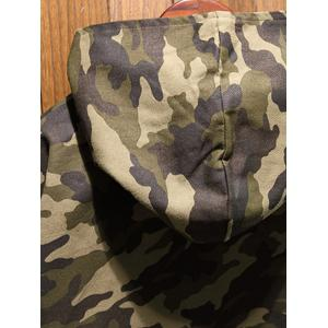 Reversible Style Camouflage Hooded Pockets Coat - BLACK XL