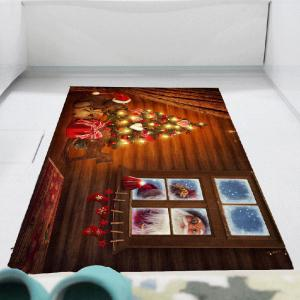 Outside The Window Santa Claus Print Wall Sticker - COLORFUL 1PC:24*71 INCH( NO FRAME )