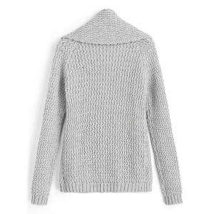 Open Front Zig Zag - Cardigan à col châle - Gris TAILLE MOYENNE