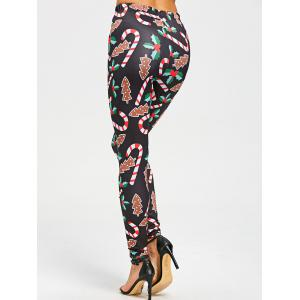 Christmas Graphic Skinny Leggings - BLACK M