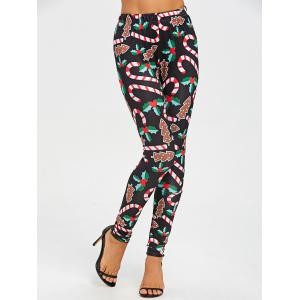 Christmas Graphic Skinny Leggings - BLACK 2XL
