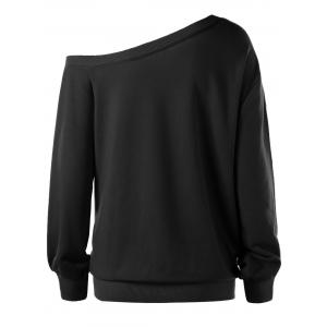 Plus Size Merry Christmas Skew Collar Sweatshirt -