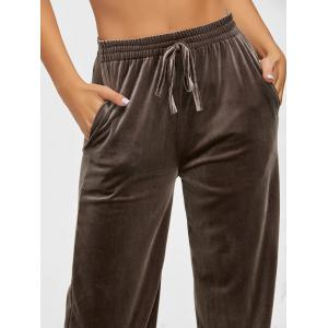 High Waist Velvet Wide Leg Pants -
