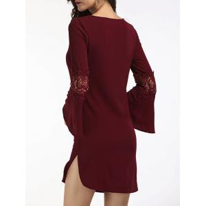 Bell Sleeve Slit Short Dress -