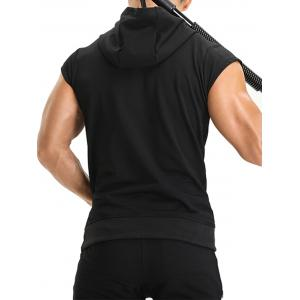 Zipper Hooded Pouch Pocket Vest -