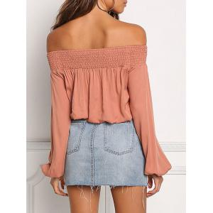 Off The Shoulder Lace Up Shirt -