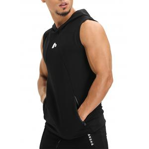 Zip Pockets Openwork Panel Vest -